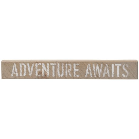 "Seven Anchor Designs 3x20"" Adventure Awaits Sign"