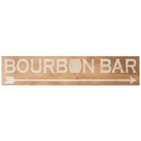 "Seven Anchor Designs 10x44"" Bourbon Bar Wooden Sign"