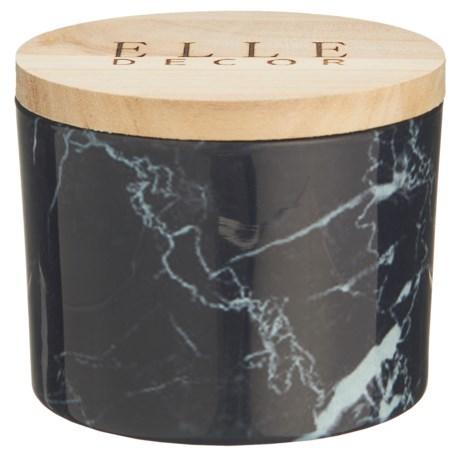 Elle Décor Black Currant Marble Jar Candle - 11.2 oz.