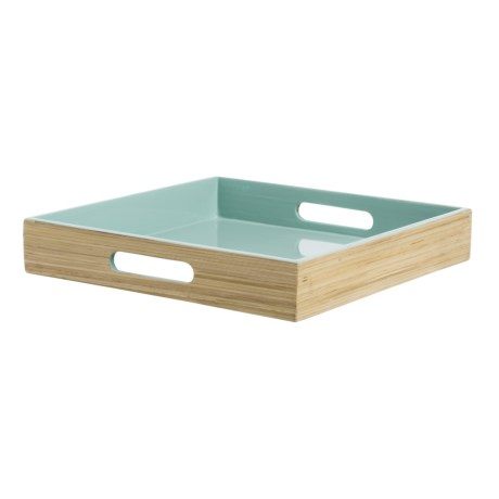 Jay Imports Bamboo Square Tray with Handles