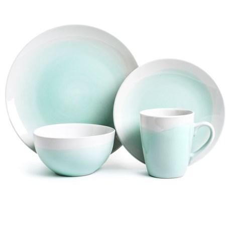 American Atelier Oasis Collection Stoneware Dinnerware Set - 16-Piece