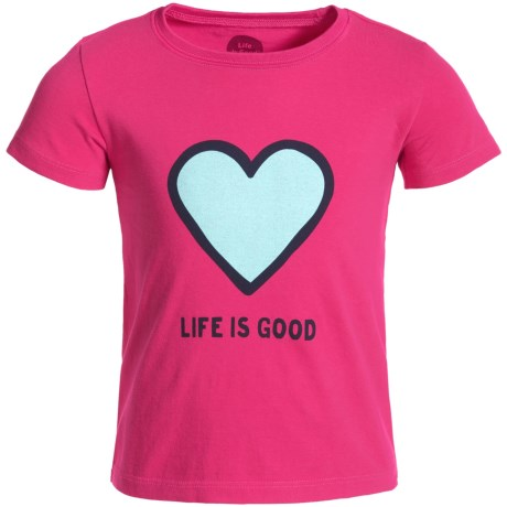 Life is good® Heart Crusher T-Shirt - Short Sleeve (For Toddlers)