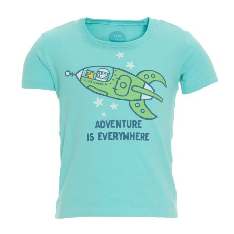 Life is good® Spaceship Adventure Crusher T-Shirt - Short Sleeve (For Toddlers)