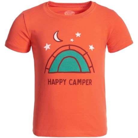 Life is good® Happy Camper Tent Crusher T-Shirt - Short Sleeve (For Toddlers)