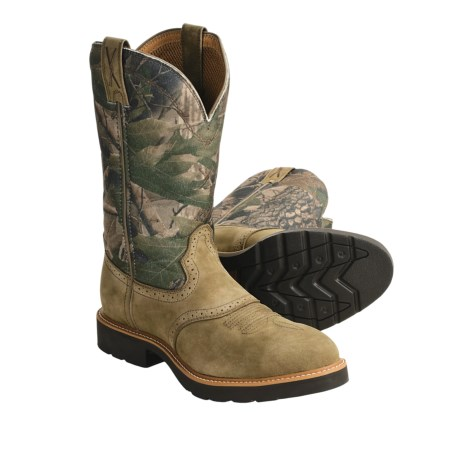 "Twisted X Boots Camo Work Boots - Steel Toe, Pull-Ons, 12"" (For Men)"