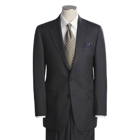 Hickey Freeman Slim Jim Beaded Stripe Suit - Worsted Wool (For Men)