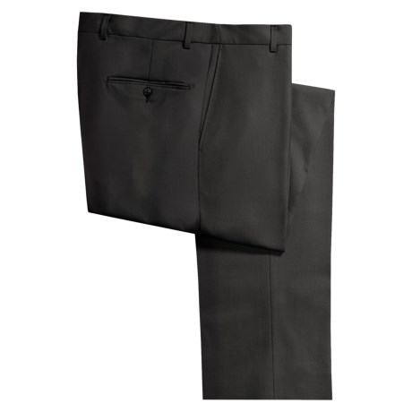 Hickey Freeman Worsted Wool Dress Pants - Flat Front (For Men)