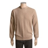 Kinross Cashmere Cable Sweater (For Men)