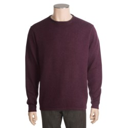 Kinross Plaited Jersey Sweater - Cashmere, Rolling Crew Neck (For Men)