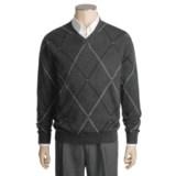 Kinross Cashmere Double-Raker Sweater - V-Neck (For Men)