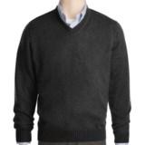 Kinross Plaited Jersey Sweater - Cashmere, V-Neck (For Men)