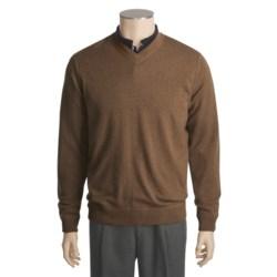 Kinross Cashmere Kinross Top-Stitch Sweater - Cashmere, V-Neck (For Men)
