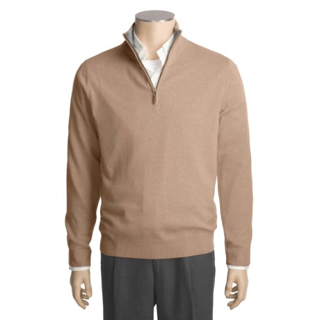 Kinross Cashmere Sweater - Zip Mock Neck (For Men)