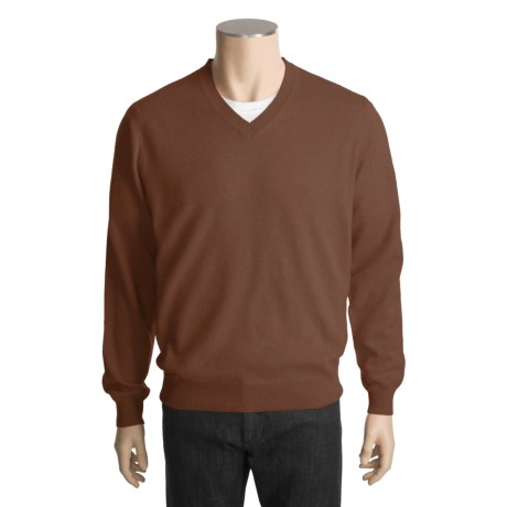 Kinross Cashmere V-Neck Sweater (For Men)