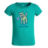 Life is good® Rocket Daisy Crusher T-Shirt - Short Sleeve (For Girls)