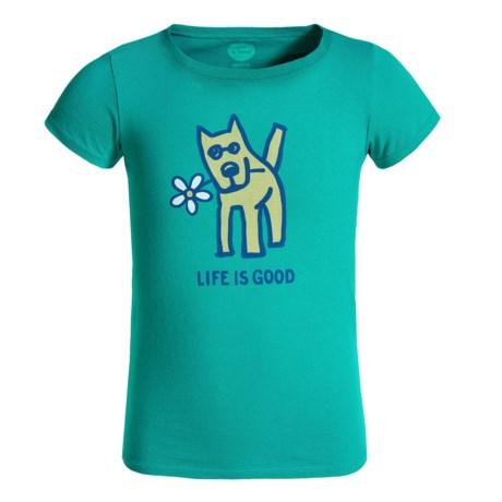 Life is good® Rocket Daisy Crusher T-Shirt - Short Sleeve (For Girls)