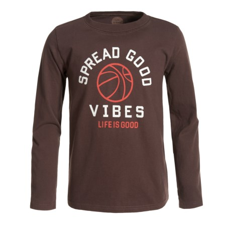 Life is good® Good Vibes Basketball T-Shirt - Long Sleeve (For Boys)