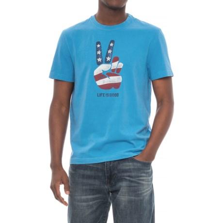 Life is good® Peace Flag Crusher T-Shirt - Short Sleeve (For Men)