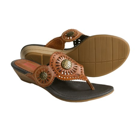 Pikolinos Formentera Sandals - Low Wedge Thongs (For Women)