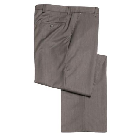 Barry Bricken Wool Herringbone Dress Pants - Flat Front (For Men)