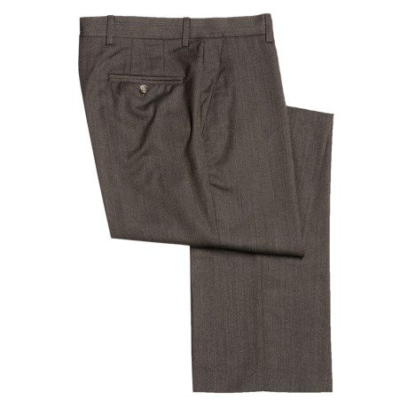 Barry Bricken Wool Dress Pants - Covert Twill, Flat Front (For Men)