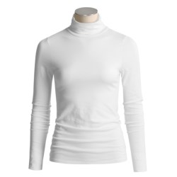 Lilla P Pima Cotton Turtleneck - Long Sleeve (For Women)