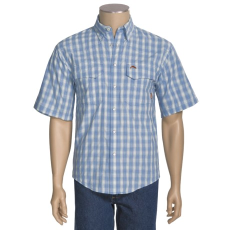 Simms Big Sky COR3 Fishing Shirt - UPF 50, Short Sleeve (For Men)