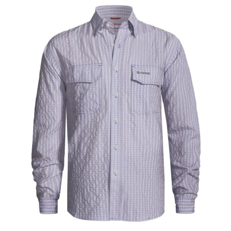 Simms Bugblocker Plaid COR3 Shirt - No Fly Zone Insect Repellent, UPF 30, Long Sleeve (For Men)