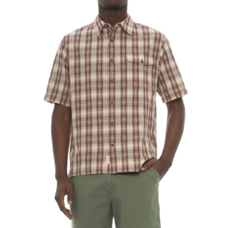 Woolrich Overlook Dobby Shirt - Organic Cotton, Short Sleeve (For Men)