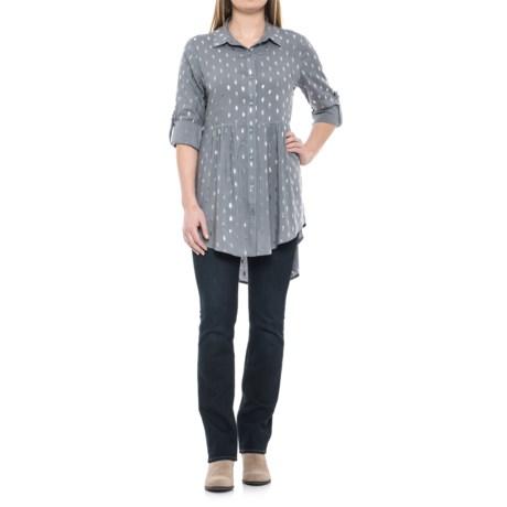 Solitaire Foil Tunic Shirt - Long Sleeve (For Women)