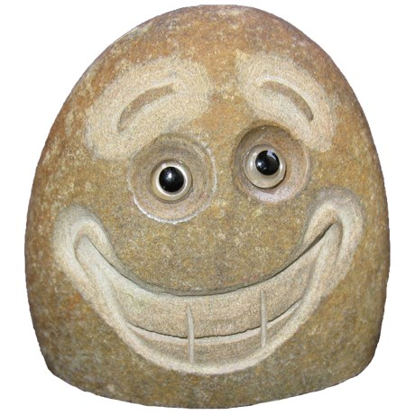 """Stone Age Creations Excited Rock Face Garden Accent - 4"""""""