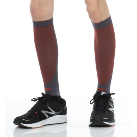 2XU High-Performance Run Calf Sleeves - UPF 50+ (For Men and Women)