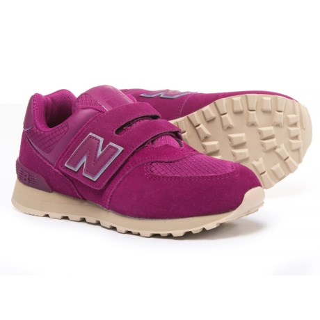 New Balance 574 Hook and Loop Sneakers (For Girls)