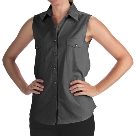 Panhandle Slim Bandera Shirt - 4 oz. Cotton Twill, Snap Front, Sleeveless (For Women)