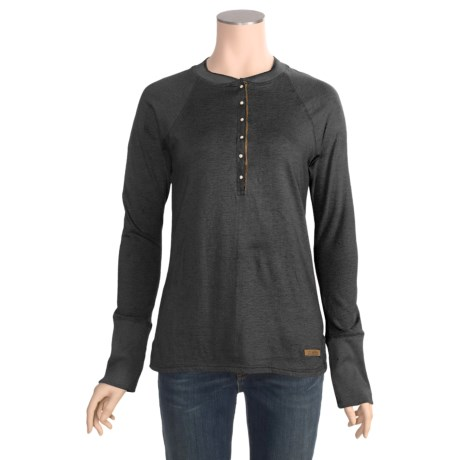 Powder River Outfitters Heathered Henley Shirt - Cotton, Long Sleeve (For Women)