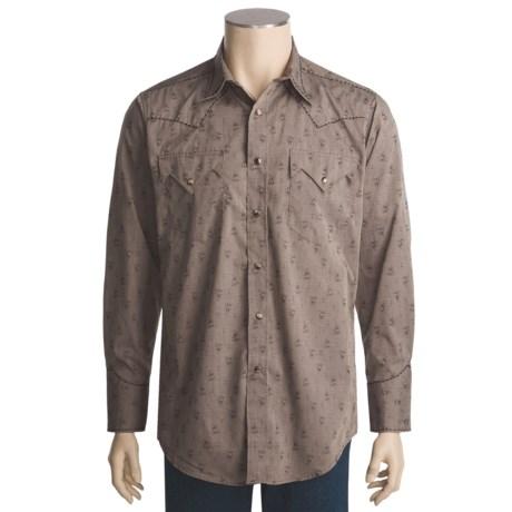 Panhandle Brooks & Dunn by  Slim Jacquard Stripe Shirt - Long Sleeve (For Men)