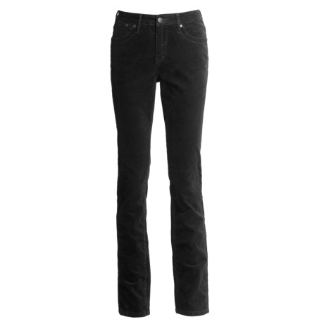 JAG Plain Jane Corduroy Pants - Mid Rise, Slim Leg, Stretch (For Women)