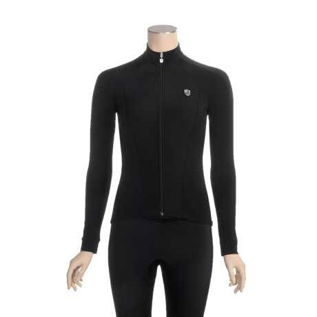 Campagnolo Light Fleece Cycling Jersey - Full Zip, Long Sleeve (For Women)