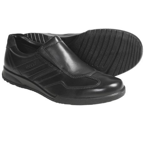 ECCO Transporter Leather Shoes - Slip-Ons (For Men)