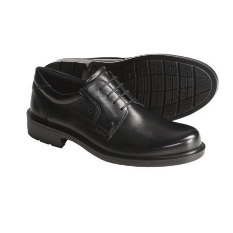 ECCO Boston Oxford Shoes- Leather, Plain Toe (For Men)