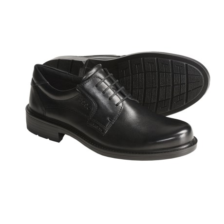 ECCO Boston Oxford Shoes- Leather, Plain Toe (For Men)