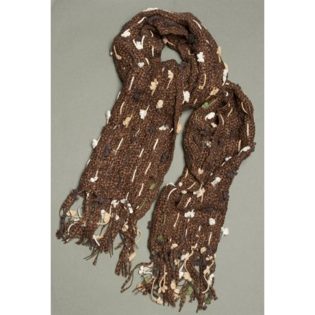 La Fiorentina Mixed Media Nubby Scarf (For Women)