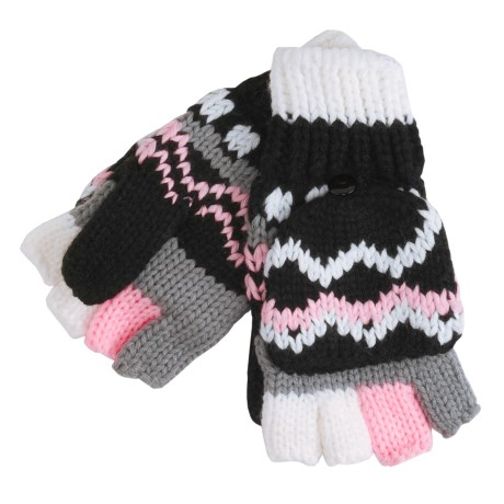 La Fiorentina Pop Top Convertible Mittens - Fingerless Gloves (For Women)