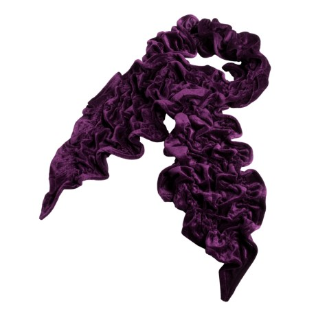 La Fiorentina Scrunch Scarf - Velvet (For Women)