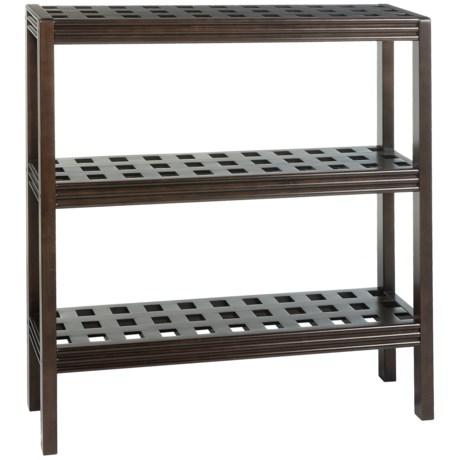 New Ridge Abingdon 3-Shelf Console Shoe Rack - Solid Birch