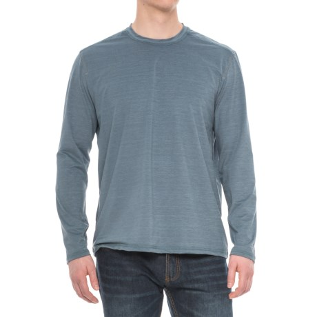 Specially made Stretch Crew Neck T-Shirt - Long Sleeve (For Men)