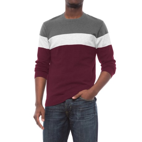 Specially made Color-Block Fine-Knit Sweater (For Men)