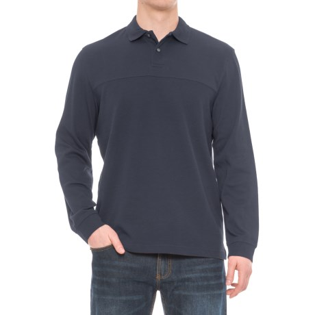Specially made Textured Polo Shirt - Long Sleeve (For Men)