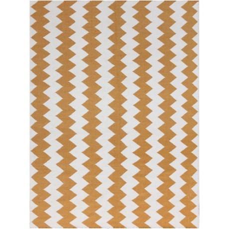 Amer Zara Collection Orange Area Rug - 5x8', Wool Blend