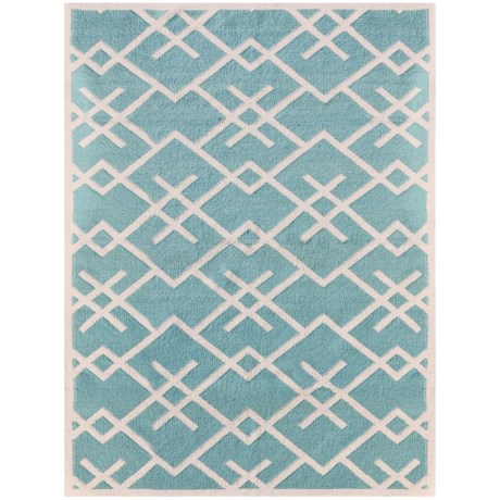 Amer Zara Collection Turquoise Scatter Accent Rug - 3x5', Wool Blend